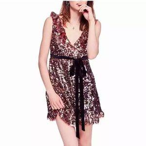 free people Siren Sequin Mini Dress $168